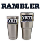 Yeti Ramblers and Colsters