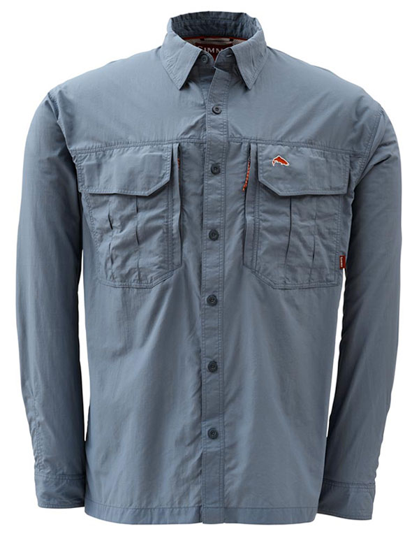 Simms Guide Shirt steel blue