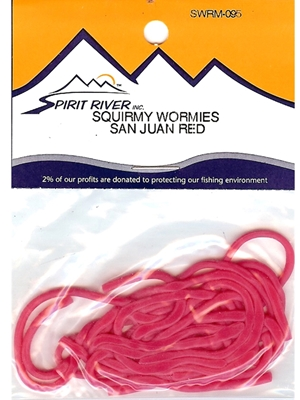 squirmy wormies fly tying material