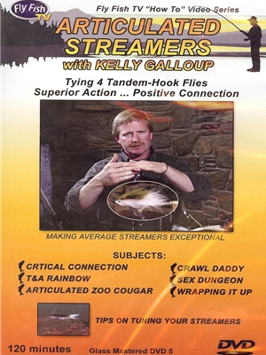 articulated streamers kelly galloup dvd new fly tying items