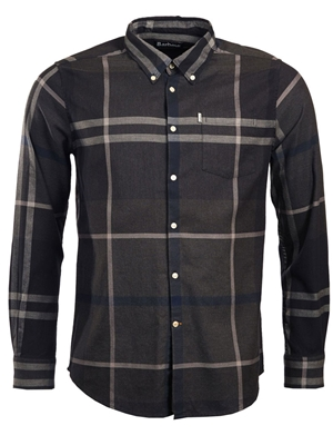 Barbour Dunoon Shirt- graphite mad river outfitters men's sale items