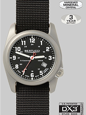 Bertucci A-2T original classic watch black 12022 Bertucci Field Watches