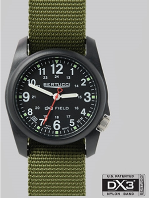 Bertucci DX3 Field watch in black 11016 Bertucci Field Watches