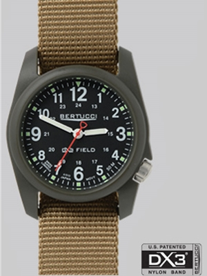 Bertucci DX3 Field watch in black olive drab 11027 Bertucci Field Watches