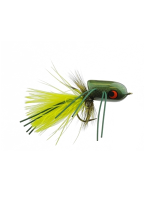boogle bullet mossy green Largemouth Bass Flies - Surface  and  Divers