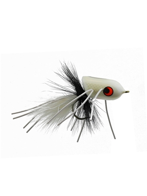 boogle bullet white Largemouth Bass Flies - Surface  and  Divers