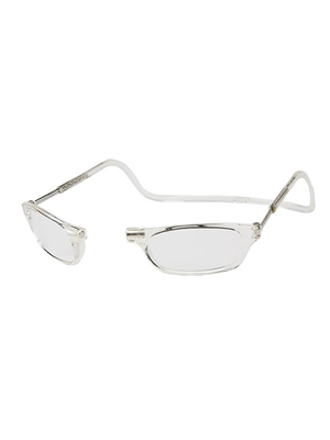 clic reading glasses in clear