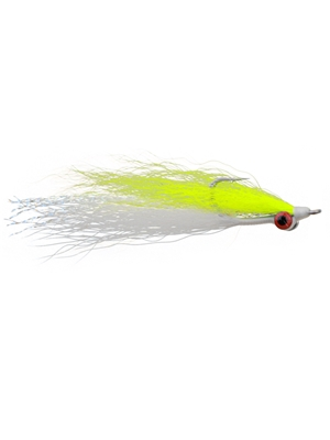 clouser minnow chartruese white Clouser Minnows