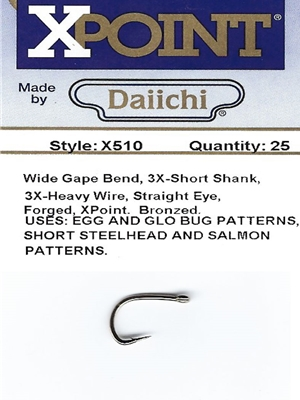 Daiichi X510 Fly Hooks fly tying hooks for salmon and steelhead