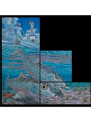 Deyoung bahamas bonefish race canvas print Carvings  and  Art