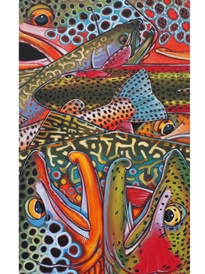 Deyoung trout confetti canvas print Carvings  and  Art