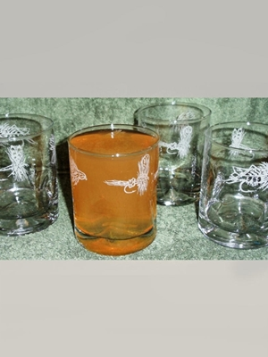 fly etched dimpled hi-ball glasses Coffee Mugs, Dinnerware  and  Barware