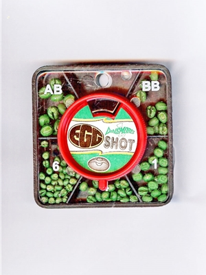 dinsmores cushion egg tin shot 5 dispenser fly fishing split shot