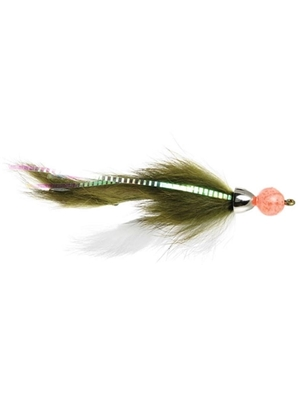 Dolly Llama Streamer w/egg olive michigan steelhead and salmon flies