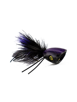 Double Barrel Popper- Black Largemouth Bass Flies - Surface  and  Divers