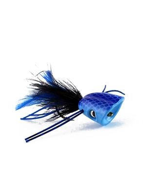 Double Barrel Popper- Blue Largemouth Bass Flies - Surface  and  Divers