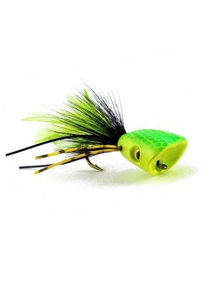 Double Barrel Popper- Yellow/Chartreuse Bass- Poppers, Petes  and  Frogs