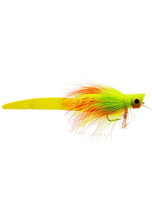 femme fatale fly fire tiger Largemouth Bass Flies - Surface  and  Divers