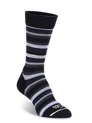 fits women's casual crew socks medium stripe