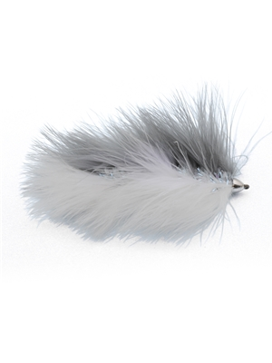kelly galloups barely legal articulated trout streamer fly gray white Streamers