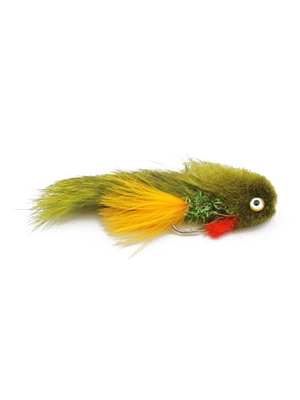 galloup's butt monkey olive Largemouth Bass Flies - Subsurface