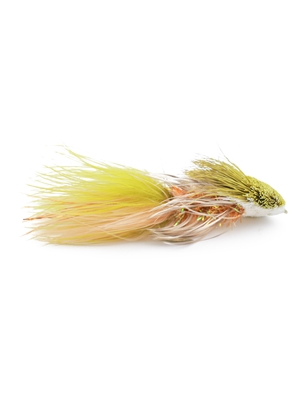galloup's cactus wooly streamer olive white New Flies