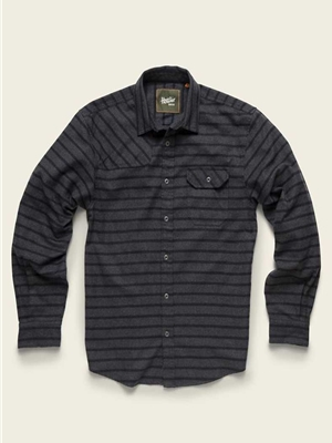 howler brothers harker's flannel shirt skyline stripe charcoal mad river outfitters men's shirts and tops