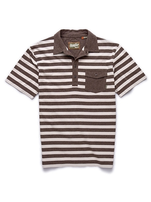 howler brothers rookery polo earth cream stripe