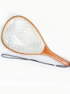 landing net with clear rubberized net bag