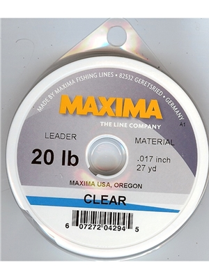 maxima clear leader and tippet material