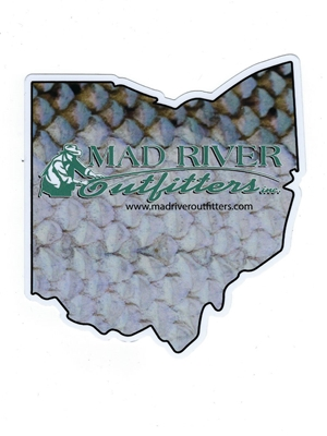 Mad River Outfitters Ohio Logo Sticker mad river outfitters logo merchandise