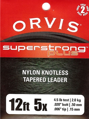 orvis superstrong plus 12' leaders Orvis Fly Fishing Equipment at Mad River Outfitters