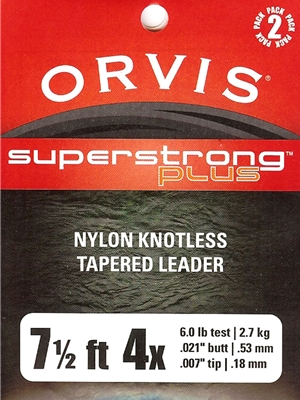 orvis superstrong plus 7 1/2' leaders Orvis Fly Fishing Equipment at Mad River Outfitters