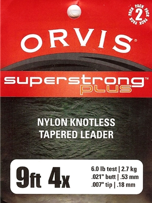orvis superstrong plus 9' leaders Orvis Fly Fishing Equipment at Mad River Outfitters