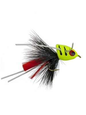 micro slider bluegill fly chartreuse