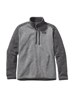 patagonia men's better sweater 1/4 zip nickel forge gray