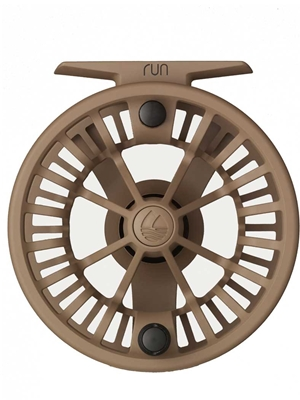 Redington RUN Fly Reel coyote New Fly Reels at Mad River Outfitters