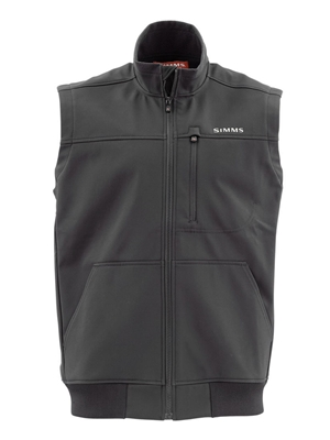 Simms Rogue Fleece Vest- black mad river outfitters men's sale items