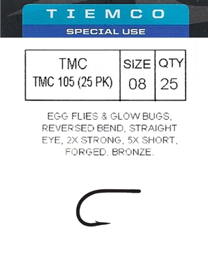 tiemco 105 fly hooks Tube Flies