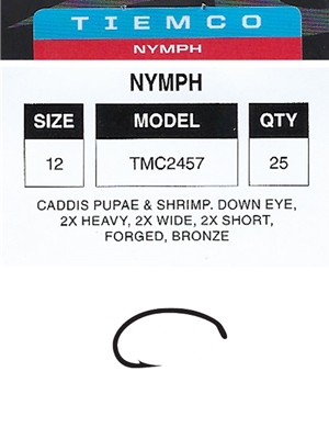 tiemco 2457 nymph fly hooks fly tying hooks for salmon and steelhead