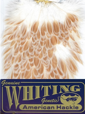 Whiting Farms American Hen Saddles- buff laced ginger