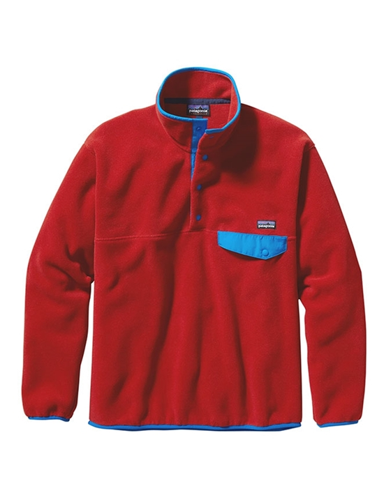 Patagonia M's Snap-T Pullover cocineal red