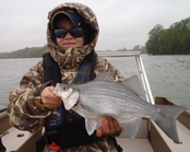 fly fishing guide service for lake st. clair